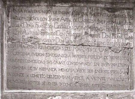 Un antico omicidio nella Cagliari spagnola: Don Bernardino Mattia di Cervellon e il Marchese di Laconi